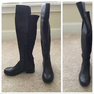 Nine West Leather Over the Knee Boots